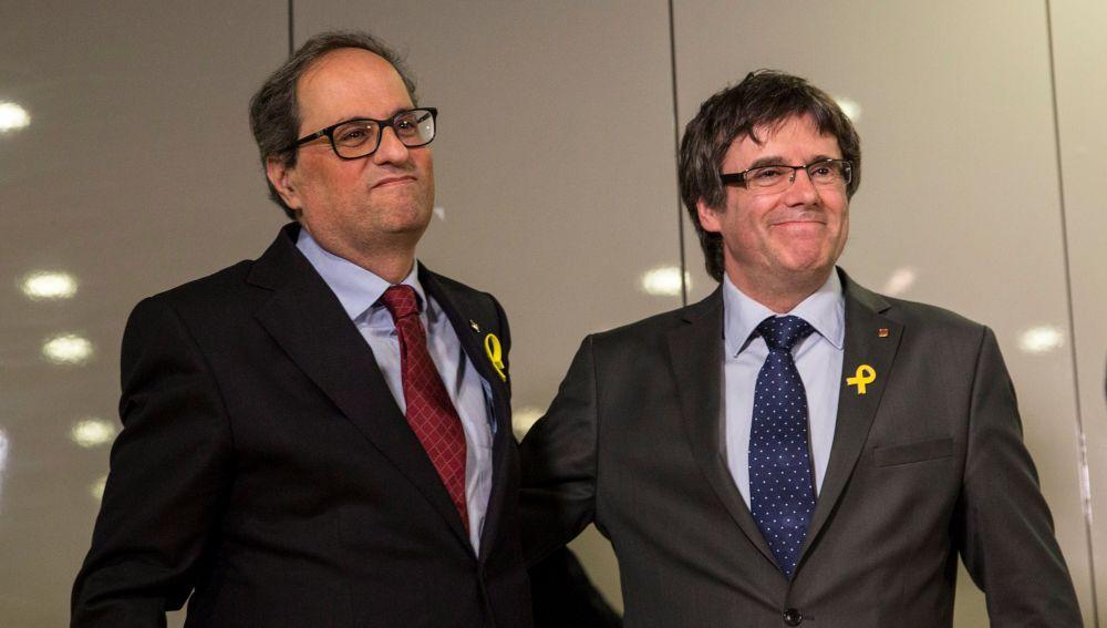 Torra se reúne con Puigdemont en Berlín